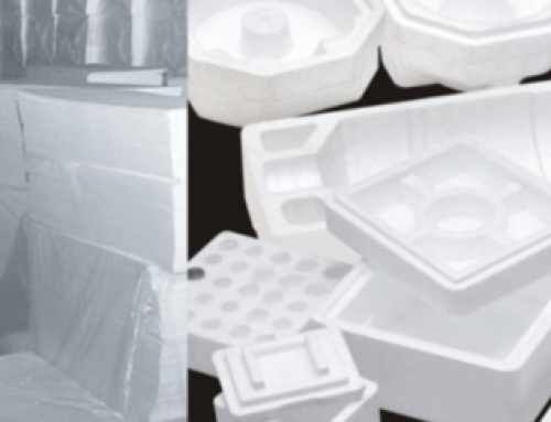 Polystyrene packaging suitable for table grapes