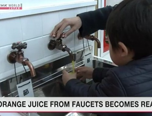 Orange juice from faucets